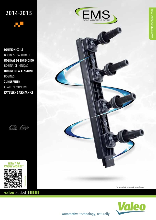 Catalogue Valeo Bobines d'Allumage - 968212